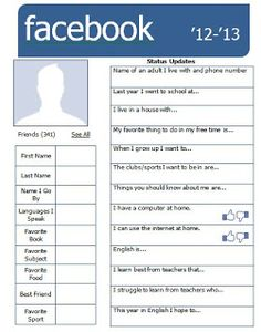 Facebook-style getting to know you page. Very cool, with a link to an editable version.