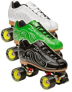 Labeda Voodoo U-7 Speed Roller Skates-Featuring a full leather stitched sole, premium leather uppers and a unique tribal design the Labeda Voodoo U-7 is one sweet ride. -Choose from green, white, and black for your boot color -High quality Labeda Night Ryder wheels and Chrome ABEC-9 Race Series bearings
