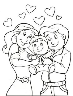 Beautiful Parents Day Coloring Pages