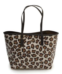 This Chalk Ocelot City Tote by Coach