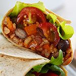 Fork over Knives - Burritos with spanish rice and black beans