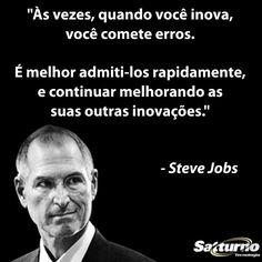 Admite logo que errou e segue em frente, aprendendo com o erro! #satturno - http://www.satturno.com.br