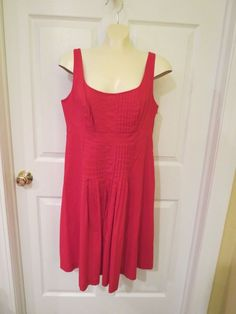 70% OFF EVERYTHING, 1 DAY ONLY, ENDS SUNDAY!!   Chaps Red Sleeveless Dress Size 12 #Chaps #SleevelessDressEmpireWaist #Any