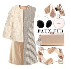 """the WOW-faux fur"" by mara-glamour ❤ liked on Polyvore featuring Raye, STELLA McCARTNEY, Jakke, Ted Baker, Natasha, Chanel, LC Lauren Conrad and Kendra Scott"