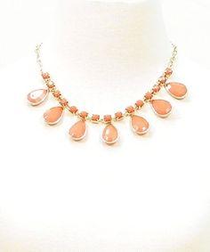 Coral teardrop necklace – Pinkracks