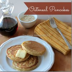 Healthy Recipe Option for breakfast: Oatmeal Pancake Recipe #healthy #recipes