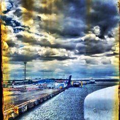 Fährterminal, Überseehafen Rostock. Ferry terminal, overseas port Rostock. #port #rostockport #overseas #harbor #harbour #hafenrostock #übersee #ttline #stenaline #scandlines #ferry #balticsea #ostsee #rostockgram #rostocker #afdfch #hro #hro2015 #rostock