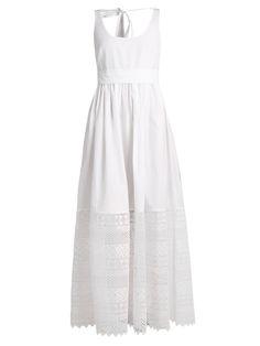 No. 21 Macramé-lace hem cotton dress