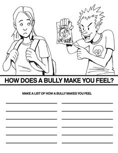 bullying and teasing coloring pages - photo#6
