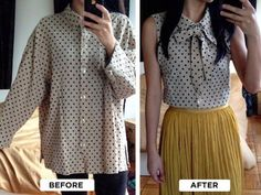 Chic Collared Necktie Blouse   DIY Clothes   Tops, Tees, And Blouses Edition