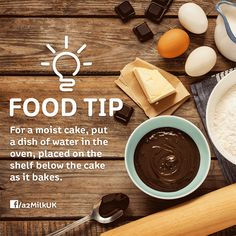 Making a #Cake at #home? Here's a simple #tip that can give you a moist and #delicious cake! #baking #cooking #oven #dessert #pastry #sweet