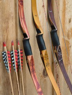 Black Widow Bows --I love shooting a recurve, although I think these are longbows.