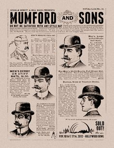 Mumford & Sons. Only the most epic gig poster since the invention of a hat advertisement.