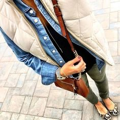 I like this outfit very much. I have all but the puffer vest.
