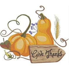 Season For Pumpkins - Kreations by Kara Custom Embroidery, Embroidery Thread, Machine Embroidery Designs, Thanksgiving Projects, Kara, Give Thanks, Pumpkins, Free Design, Christmas Ornaments