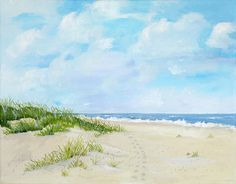Jekyll Island beach Painting  - Jekyll Island beach Fine Art Print
