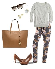 """Untitled #145"" by smag on Polyvore featuring Lands' End, Old Navy, J.Crew, Banana Republic, CZ by Kenneth Jay Lane and Michael Kors"