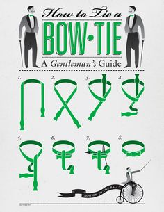 How to Tie a Bow Tie, a Gentleman's Guide | Illustration by Conor Whelan