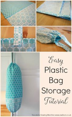 An easy tutorial showing how to make a plastic bag storage bag, with clear steps and plenty of step photos. Tea and a Sewing Machine www.awilson.co.uk