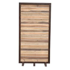 "Jeffan 70"" x 35"" Sedona Room Divider Finish: Natural"