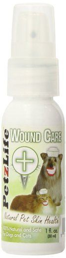 PetzLife Organic Wound Care All Natural Plant Based Oil Pet Skin Treatment 1oz