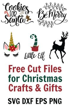 happy holiday Free cute little elves to adorable unicorns and reindeer, this is a free SVG collection that is perfect for DIY Christmas gifts. Cricut Christmas Ideas, Christmas Vinyl, Christmas Truck, Christmas Crafts For Gifts, Christmas Projects, Red Christmas, Diy Christmas Kits, Free Christmas Printables, Christmas Things