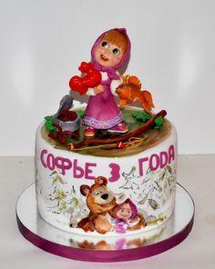 Детский торт Маша и медведь. (подборка) | 82 фотографии