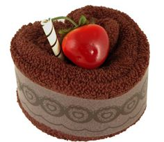 Deluxe Chocolate Heart Towel Cake (New Arrival)