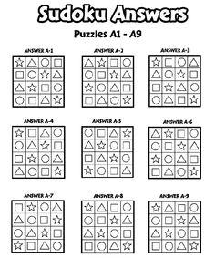 Sudoku Answers A1-A9