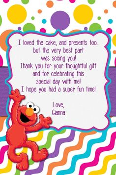 Custom Made Elmo Birthday Girl Invitation Elmo by MyBabiesBreath