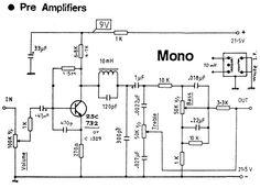MONO 1 TRANSISTOR PRE AMP