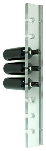 Acrylic 8 Bottle Wall Mounted Wine Rack for Small Apartments