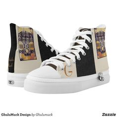 GhuluMuck Design High-Top Sneakers - Printed Unisex Canvas Slip-On #Shoes Creative Casual #Footwear #Fashion #Designs From Talented Artists - #sneakers #feet #fashion #design #fashiondesign #designer #fashiondesigner #style - Look sporty stylish and elegant in a pair of unique custom sneakers - Each pair of custom Low Top ZIPZ Shoes is designed so you can fit your style to any wardrobe mood party or occasion - Fashionable sneakers for kids and adults give you a unique and personalized way to…