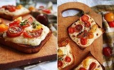 Toast with cheese sauce and cherry tomatoes Ingredients: 1 white onion 30 g of CL oil 1 C/l of flour...