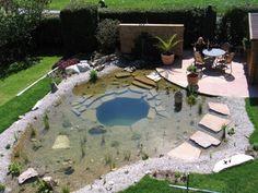 Einen Badeteich für den kommenden Sommer
