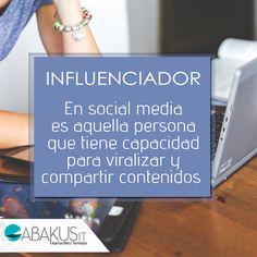 #SabiasQue Influenciador En social media es aquella persona que tiene capacidad para viralizar y compartir contenidos con un amplio número de personas.