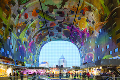 Markthal Rotterdam (Architect: MVRDV). Photo by Ossip Van Duivenbode / Rotterdam Partners.