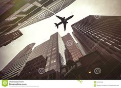 Skyscrapers And Airplane. Air Safety - Download From Over 41 Million High Quality Stock Photos, Images, Vectors. Sign up for FREE today. Image: 67467845