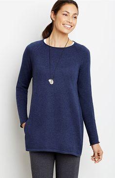 Pure Jill raglan-sleeve pullover