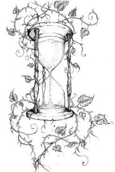 Tattoo frauen oberschenkel sanduhr 49 ideas for 2019 Dorn Tattoo, Body Art Tattoos, Tattoo Drawings, Tatoos, Hourglass Tattoo Meaning, Manos Tattoo, Vine Drawing, Desenho Tattoo, Book Of Shadows