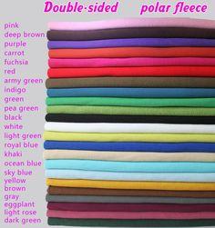 "Double Sided Polar Fleece Fabric Anti Pilling Hoodies Blankets Coats BTY | eBay Furfabric $13 Size 150*92cm/60""*36"" free international shipping Khaki"