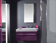 purple bathroom vanity