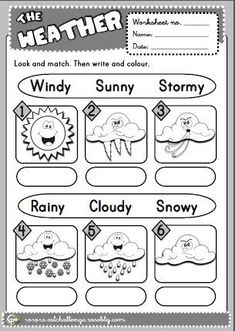 The Weather Worksheet 4 Version And Seasons Worksheets For Free Printable Weather Worksheets Kindergarten Kids Easy Writing For Science Draw The Summer Season For Preschoolers Seasons Worksheets, Weather Worksheets, 2nd Grade Worksheets, Kindergarten Worksheets, English Primary School, Kids English, English Lessons, Learn English, Teaching Weather