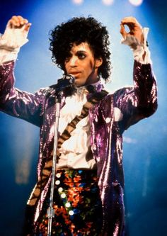 Prince's 15 Most Iconic Purple Outfits - March 1, 1985 - from InStyle.com