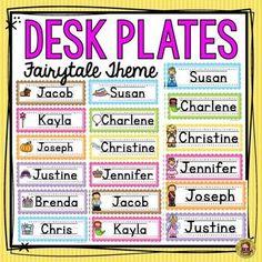 Your students will love these 58 editable desk plates all featuring a magical fairy tale theme. https://www.teacherspayteachers.com/Product/DESK-PLATES-FAIRY-TALE-2521415