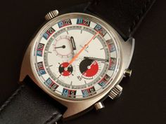 1970 Omega Seamaster Chrono with a 'Roulette Wheel Soccer Timer'