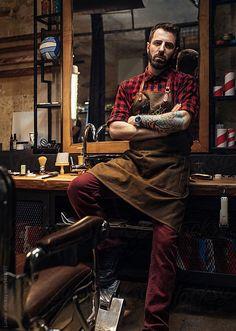 Portrait of Hairdresser by Lumina - Barber, Hairdresser - Stocksy United Barber Shop Pictures, Barber Shop Decor, Barbershop Design, Environmental Portraits, Beauty Salon Interior, Business Portrait, Men's Grooming, Portrait Photography, Hair Photography