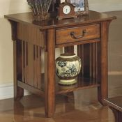 Zahara Single Drawer Wood End Table by Winners Only