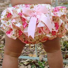 Baby girl ruffled bloomer/ Baby girl by GottaLovePinkAndBlue