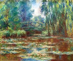 Water Lily Pond and Bridge - Claude Monet